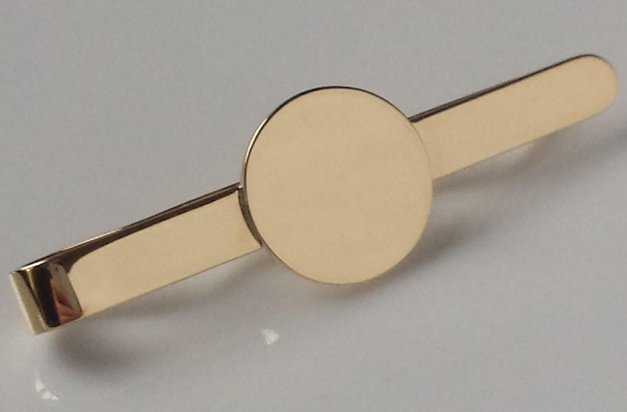 solid gold tie clip