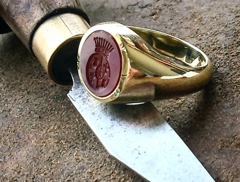 Gemstone Signet Rings Hand Engraving Specialists