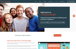 Exchange Counselling - Counselling website design by Toolkit Websites, professional web designers