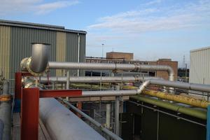 Stainless steel exhaust pipework