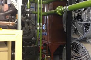 Water pipework between DRUPS and radiator