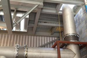 450mm dia high temp exhaust pipework