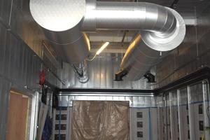 Completed twin silencer & pipework
