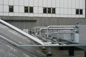 Cooling water pipework CHP Guys Hospital