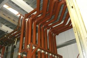 Cooling water pipework 6 prime power generators