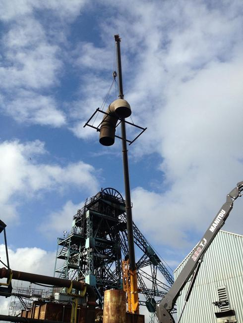 Dismantling 1800mm ventilation ductwork 2