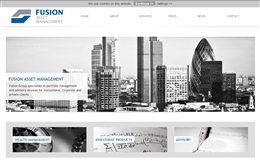Fusion Asset Management - Financial website design by Toolkit Websites, professional web designers