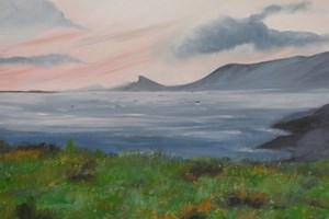 'Sun setting on Wild Atlantic Way' 69 X 59 cm Framed Oil on Board