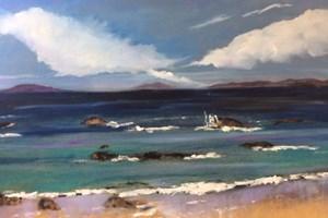 On the Beach Oil on board 76 x 51 cm