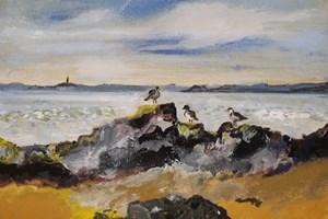 'Sea Birds' 44 x 38 cm Framed Acrylic on Canvas Giclée Limited Edition prints available