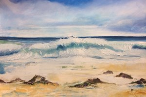 'Wild Atlantic Way' 75 x 69 cm Framed Oil on paper Giclée Limited Edition prints available