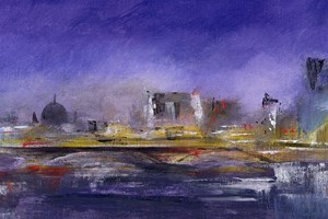 'The Thames Lit Up'