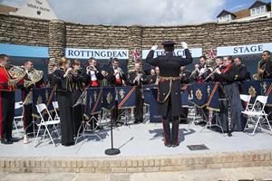 Royal band playing at Rottingdean