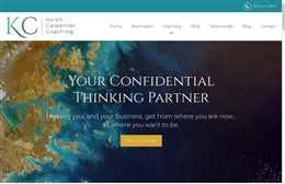 Karen Carpenter - Coaching website design by Toolkit Websites, professional web designers