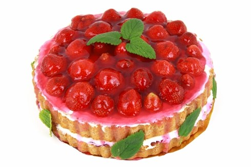 Large strawberry cake