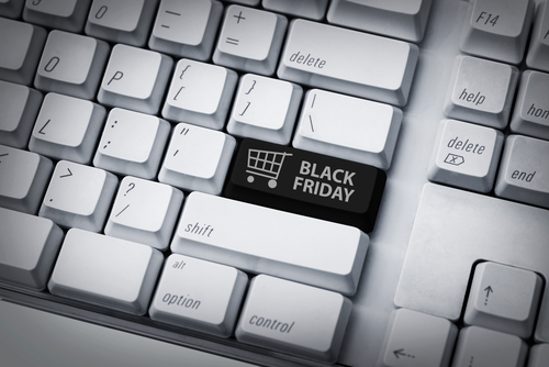Black Friday key on computer keyboard
