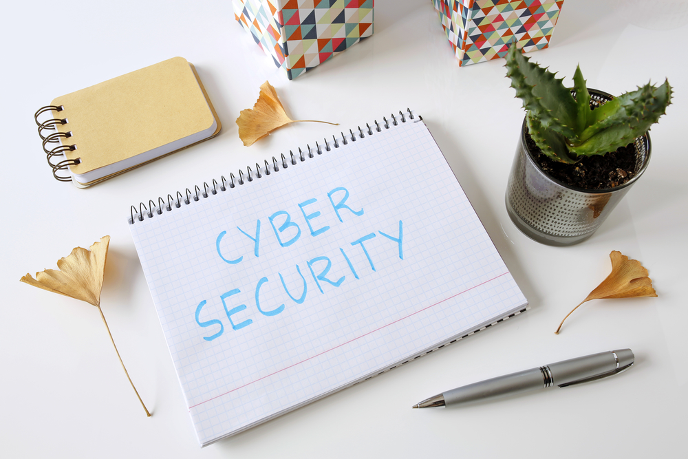 CyberSecurityWrittenOnNotepad