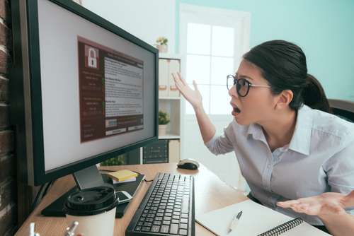 Office worker shocked to find something wrong with her computer