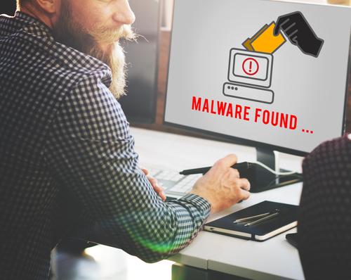 Man-findsMalwareOnComputer