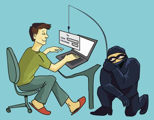 Man Ignoring Cybercriminal