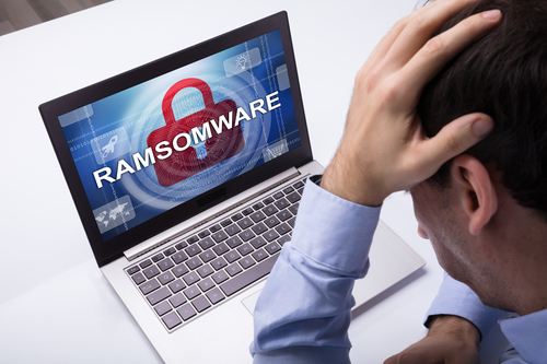 RansomwareShowingOnLaptop