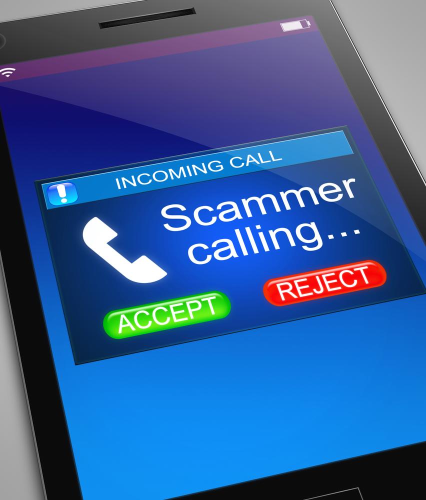 ScammerCallingMobilePhone