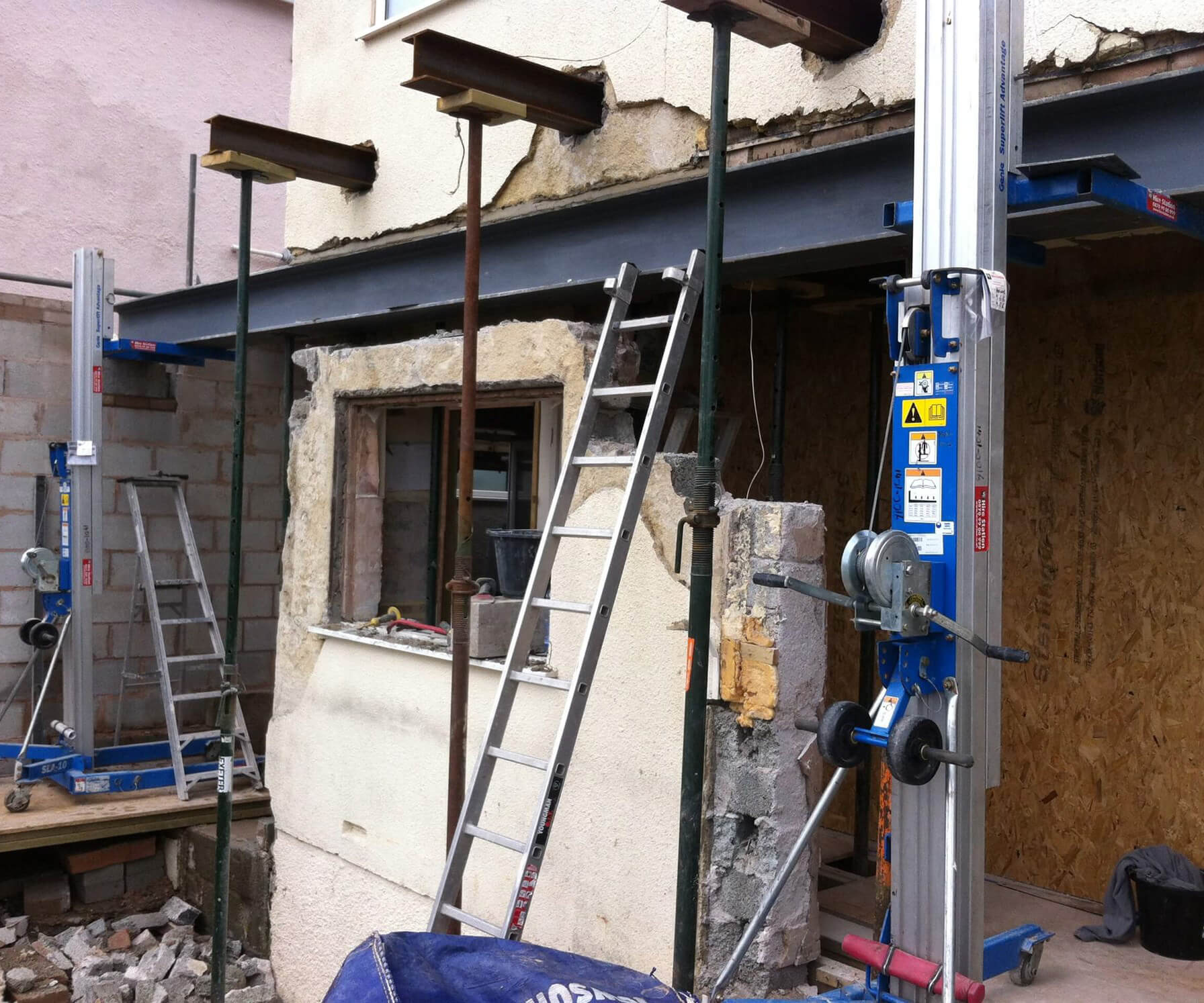 Extension being made to a house