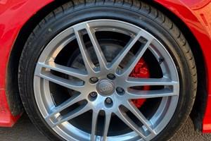 Audi TT Powder Chrome Alloys with red callipers
