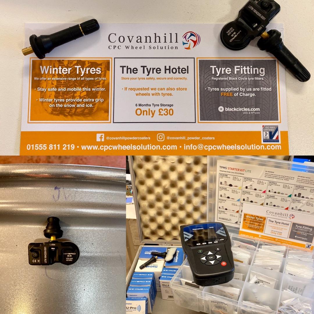 We fit TPMS Tyre Pressure Monitoring Sensors