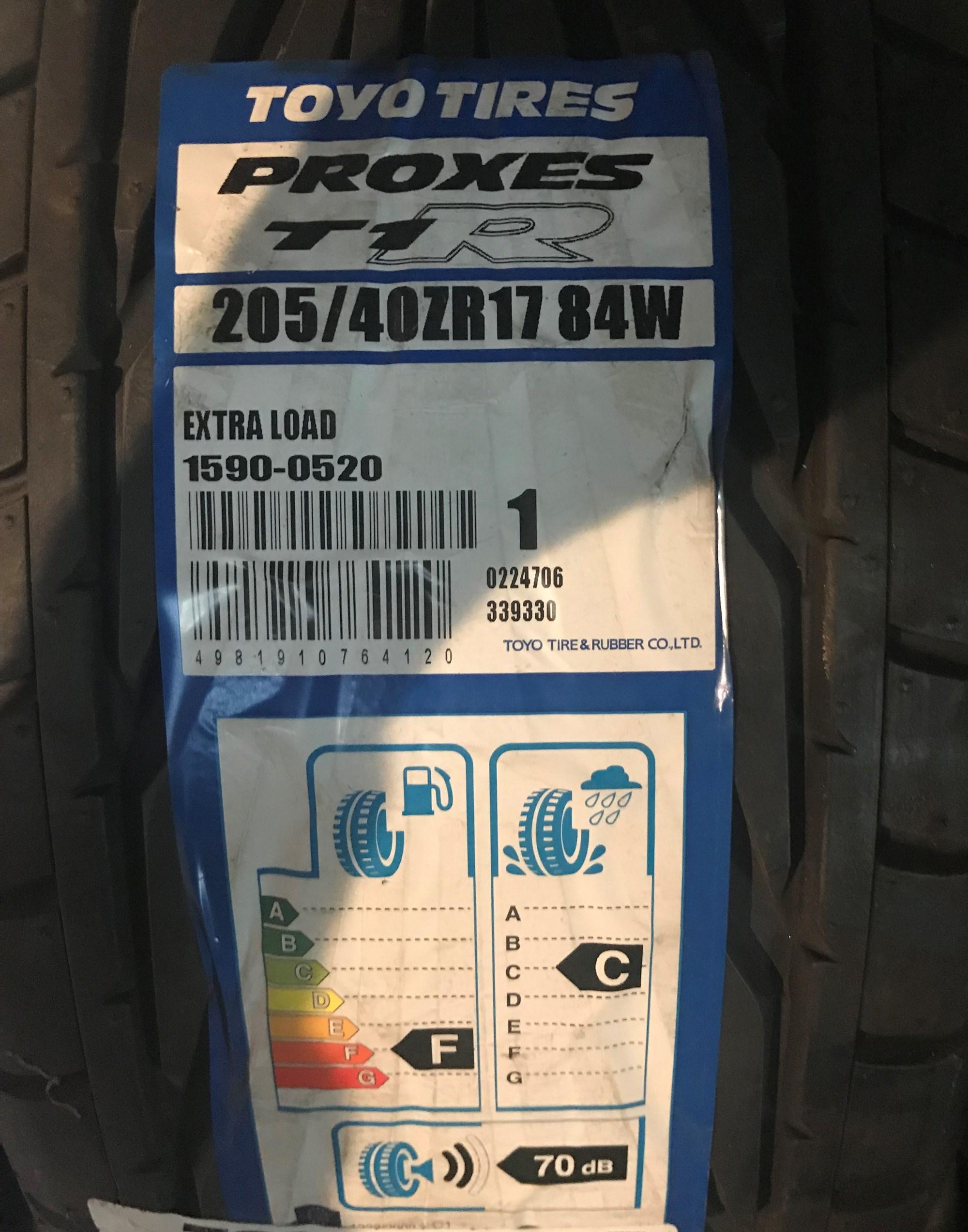 Toyo Proxes 205/40/17 Tyre
