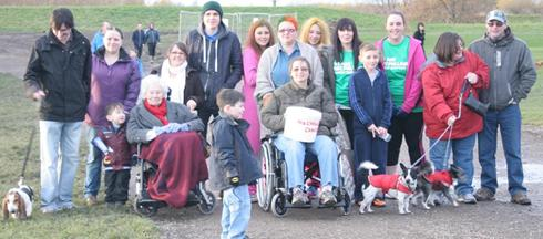 Flexicare Carers, management and Service Users raising money for charity