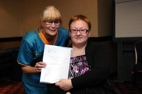 Flexicare carers receiving their Psychology of Care Certificates