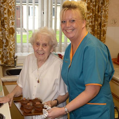 Carer with Service User