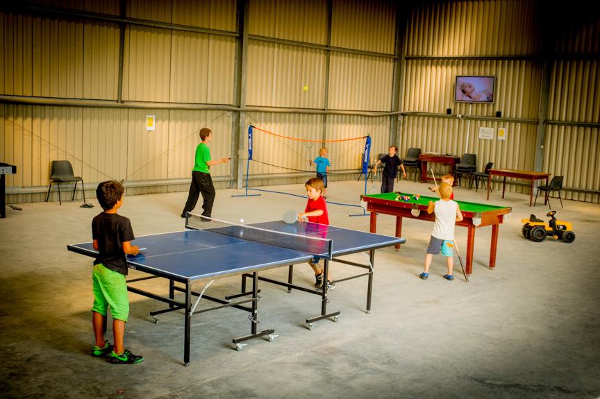 The huge indoor games room has activities for everyone, pool,table tennis etc