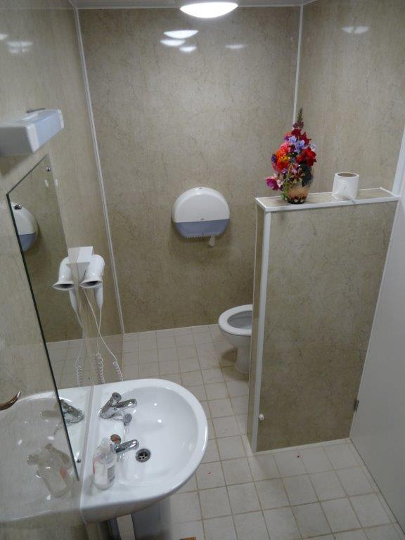 our Spacious family showers have a double shower
