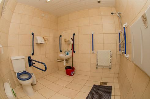 The large disabled /family shower