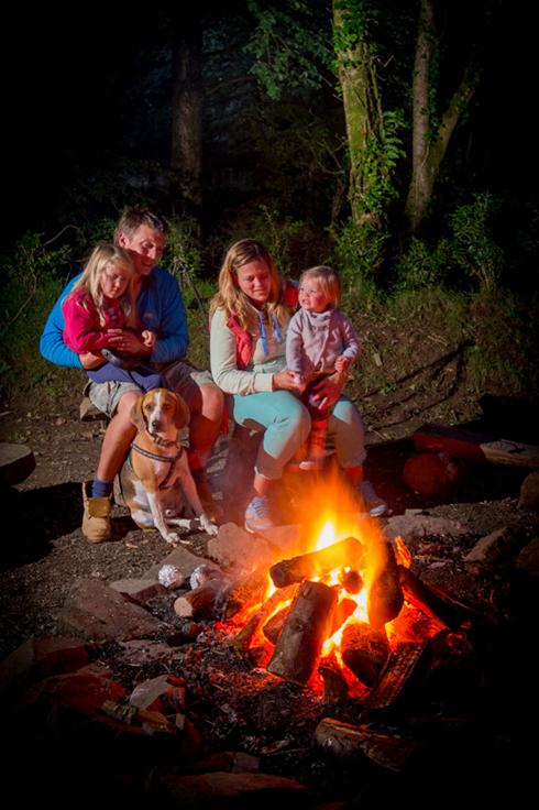 A cosy evening by one of the 8 fire pits