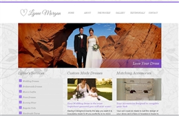 Lynne Morgan - Bridal wear website design by Toolkit Websites, professional web designers