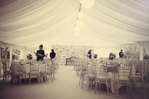 Marquee in the woodland