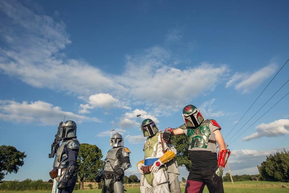 The Star Wars 'Mandalorians' at 'Woodside'