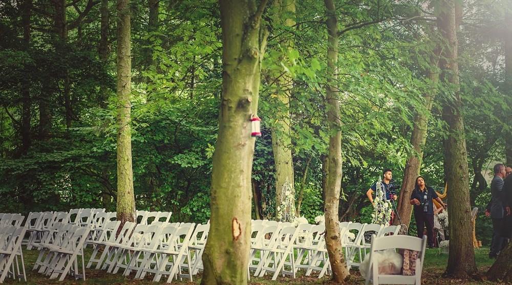 woodland wedding setting