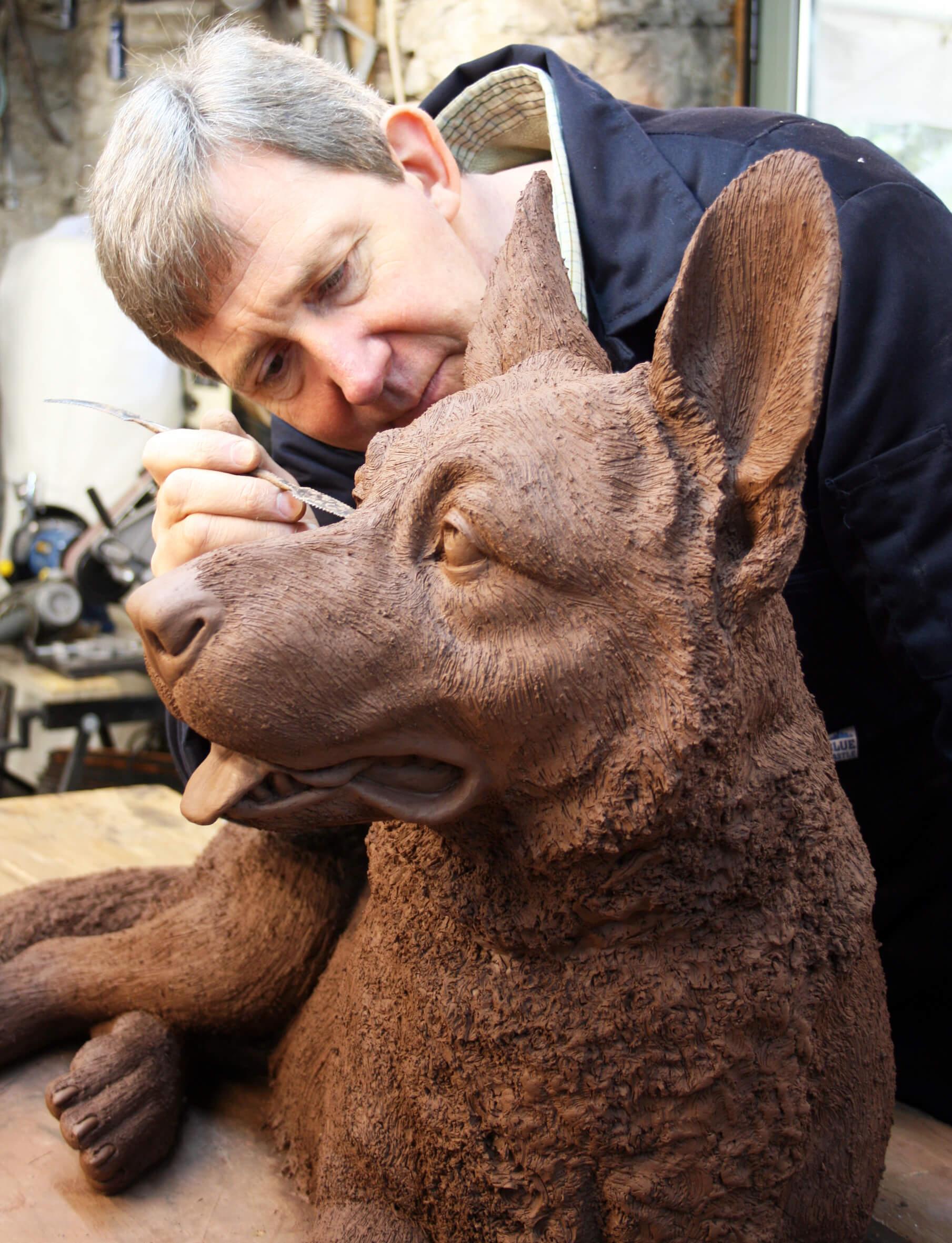 Martin Duffy German Shepherd sculpture