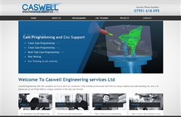 Caswell Engineering - CNC website design by Toolkit Websites, Southampton