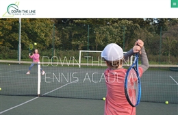 Down the Line Sports - Tennis website design by Toolkit Websites, Southampton