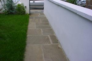 large reclaimed york stone paving crate this very smart path