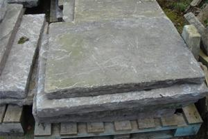 Large weathered York stone flagstones