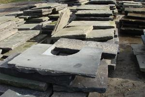 reclaimed yorkstone slabs for restacking