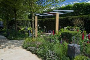 New Yorkstone paving at the Help for Heroes, Chelsea Flower Show 2014