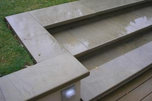 York stone steps with pencil round edges