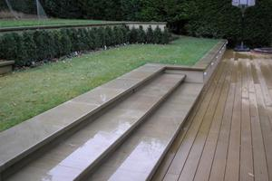 Yorkstone steps with pencil round edges
